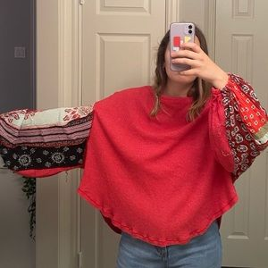 Free people balloon sleeved blouse